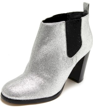 Bota Chelsea Dafiti Shoes Glitter Prata - Dafiti Shoes