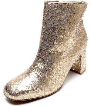 Bota Dafiti Shoes Cano Curto Glitter Dourada - Dafiti Shoes