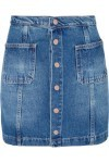 Saia Jeans Botões - Azul - Farm