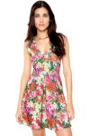Vestido Fitwell Curto Floral Verde - Fitwell