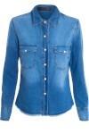 Camisa Feminina Jeans - Azul - Animale