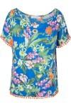 Blusa Floral Summer - Azul - Market 33