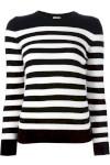 Suéter Listrado De Cashmere - Saint Laurent