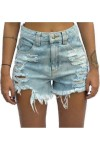 Shorts Jeans Hot Pants Ella Jeans Destroyed Azul -