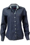 Camisa Happy Social Slim Jeans Azul Escuro - Happy