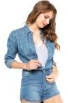Camisa Jeans Forum Étnica Azul - Forum