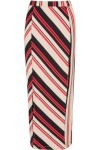 Saia Mídi Color Stripes - Laranja - Market 33