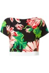 Blusa Cropped Floral - Stella Mccartney