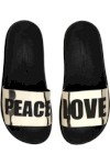 Chinelo Moleca Peace And Love Metal Dourado - Moleca