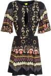Vestido Vazado Jardim Luau - Preto - Farm