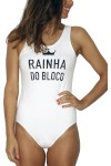 Body Tea Shirt Rainha Do Bloco Branco - Tea Shirt