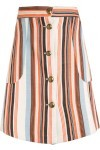 Saia Nara Stripes - Marrom - Carina Duek