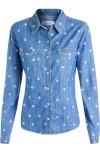 Camisa Feminina Vila Rica - Azul - Maria Filó