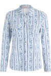 Camisa Feminina Campestre - Branco E Azul - Maria Filó
