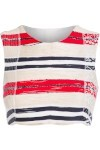 Top Cropped - Vermelho E Branco - Pat Bo