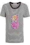 Camiseta Feminina Listra Abacaxi - Preto E Branco - A.brand