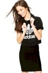 Moletom Adidas Originals Run Crop Hood Preto - Adidas Originals